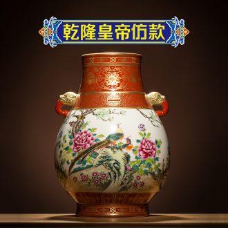 Better sealed kiln jingdezhen ceramic big vase furnishing articles sitting room hand-painted Chinese antique blue and white porcelain home decoration