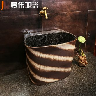 JingWei mop pool outdoor toilet mop mop pool ceramic art basin marble balcony mop pool courtyard