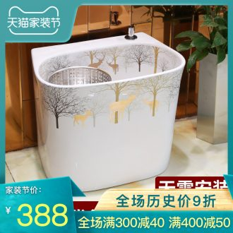 Jingdezhen ceramic mop pool household balcony toilet mop pool mop pool floor mop basin size