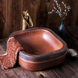 The stage basin of jingdezhen ceramic sink square Chinese style restoring ancient ways of creative art hotel toilet washs a face plate