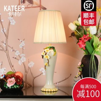 Creative colored enamel porcelain lamp sitting room luxury romantic marriage room American populist frequency resources hold the crab on the aluminum foil