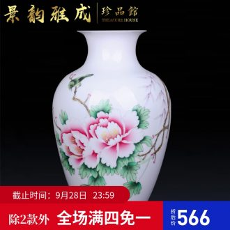 Jingdezhen ceramic hand-painted flowers vase decoration crafts are sitting room porch flower arranging, arts and crafts