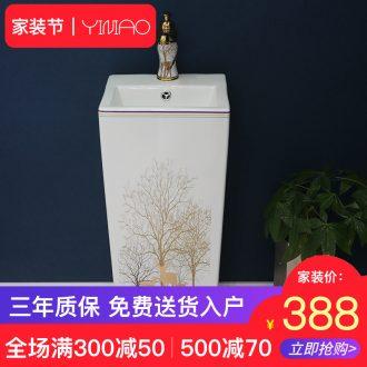Column Angle plate of ceramic wash basin triangle lavatory toilet pool mini, small family the sink console