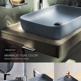 Cement grey northern wind toilet stage basin sink square ceramic creative household contracted basin