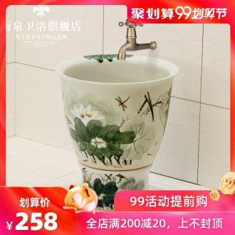 Spring rain of jingdezhen ceramic art basin of mop mop mop pool mop bucket mop pool mop basin