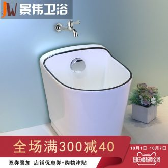 The balcony mop pool ceramic mop pool contracted large European control automatic washing mop mop pool toilet basin