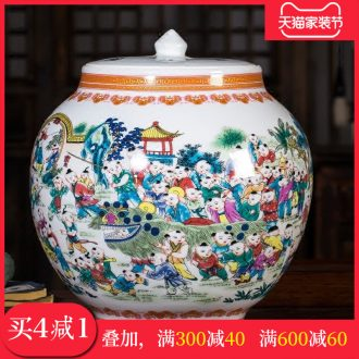 Jingdezhen ceramics vase furnishing articles antique Chinese figure classical home sitting room adornment marriage handicraft the ancient philosophers