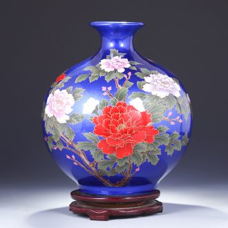 Jingdezhen ceramic vase furnishing articles dried flower arranging flowers sitting room new household porcelain decorative arts and crafts of Chinese wine