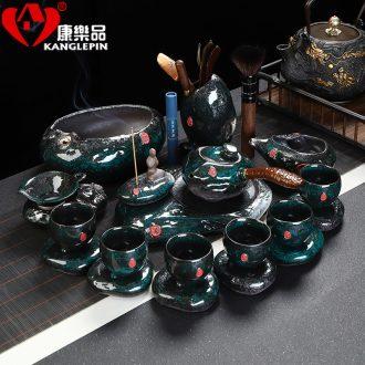 Recreational tea suit emerald temmoku home a whole set of jingdezhen ceramics office kung fu tea pot gift box