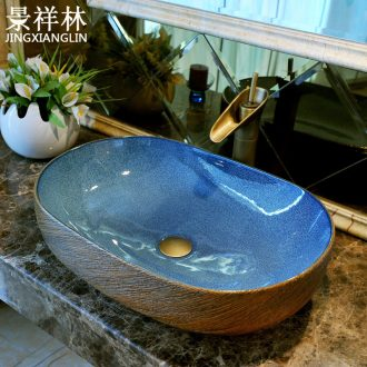 Basin ceramic art oval Europe type restoring ancient ways is large lavatory basin basin toilet stage basin to hand