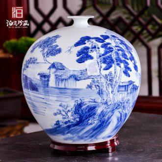 New Chinese blue and white porcelain of jingdezhen ceramics vase flower arrangement home TV ark sitting room adornment handicraft furnishing articles