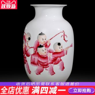 Jingdezhen ceramics hand-painted vases, flower arranging is placed five sub-ka Chinese style household act the role ofing is tasted gift sitting room