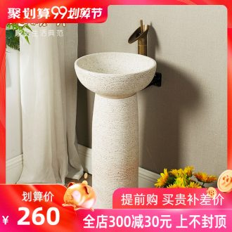 Koh larn, qi column basin ceramic basin of wash one floor type lavatory courtyard balcony pillar lavabo