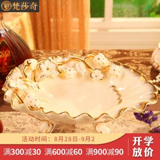 Vatican Sally's new European ceramic household luxurious sitting room tea table of fruit compote suit creative home furnishing articles