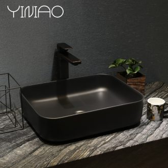 Million birds the sink basin of thin section on ceramic art basin of northern industrial creative matte black wind household basin