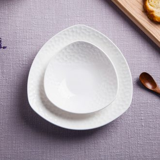 Jingdezhen bone porcelain tableware of pure creative dish water cube salad plates home plate of ceramic plate