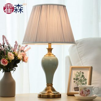 American small bedroom lamp Nordic ins creative ceramic simple modern marriage room marry European warm bedside lamp