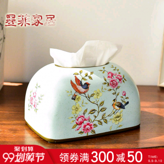 Murphy American country smoke creative ceramic carton ou rural tea table of the sitting room dining-room decorate napkin tissue box