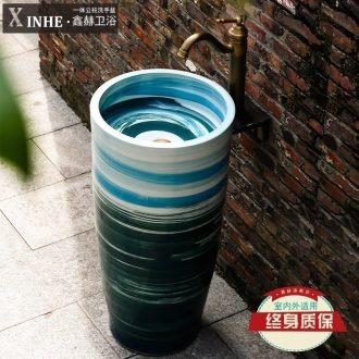 The sink pillar basin ceramic one pillar type toilet lavatory balcony sink basin that wash a face wash basin