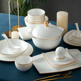 Fire color - home dishes suit high-grade bone China jingdezhen ceramics tableware dishes phnom penh golf DIY combination