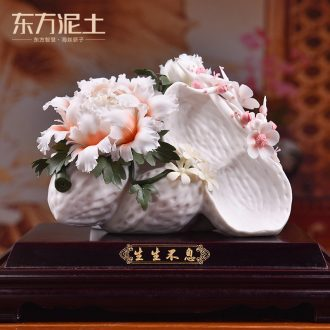 Oriental clay ceramic sculpture art furnishing articles shop front desk decoration crafts thrives/D51-13