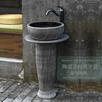 Floor type restoring ancient ways of song dynasty porcelain pillar lavabo toilet lavatory basin of wash one outdoor balcony