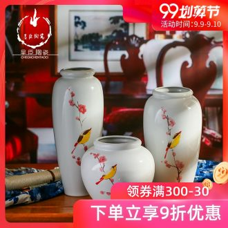 Jingdezhen ceramic vase wedding bridal chamber creative home decoration in the sitting room porch TV ark dried flower vase