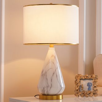Ceramic lamp Nordic light luxury ins American contemporary and contracted creative personality designer sitting room bedroom berth lamp