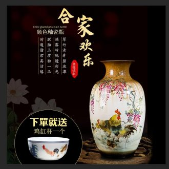 Master of jingdezhen hand-painted Chinese pottery and porcelain vases, the sitting room porch rural style decorative frame imitation antique furnishing articles