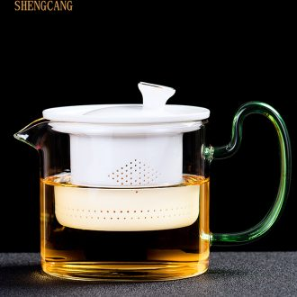 St heat-resistant glass pot of ceramic filter tank hidden hand holding boil the kettle high borosilicate household contracted the teapot