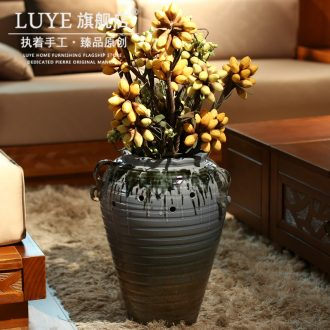 Simulation flower vase landed porcelain jingdezhen Chinese pottery household act the role ofing is tasted the sitting room decorate creative bottle furnishing articles