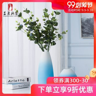 Jingdezhen ceramic floret bottle furnishing articles TV ark Nordic dried flowers flower arrangement art creative contracted sitting room adornment
