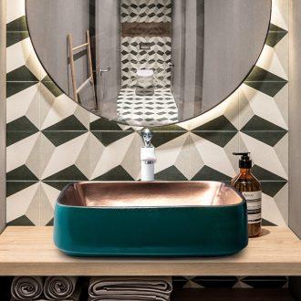 Jingdezhen metal glaze stage basin northern wind lavatory basin of ceramic toilet lavabo single marble mesa