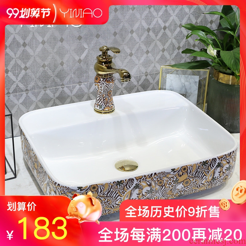 Million birds on the contemporary and contracted lavatory basin sink art ceramic face basin of household toilet washing pool