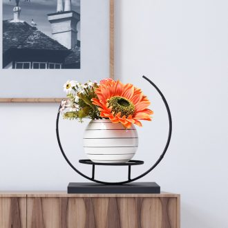 Floret bottle furnishing articles sitting room dry flower arranging flowers Nordic light ceramic TV ark contracted and contemporary household act the role ofing is tasted much wine