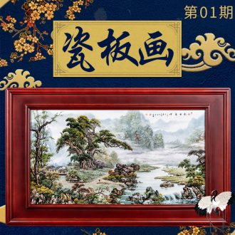 Ning sealed kiln porcelain plate painter jingdezhen hand-painted archaize to hang in the living room sofa setting wall porcelain plate painting ceramics