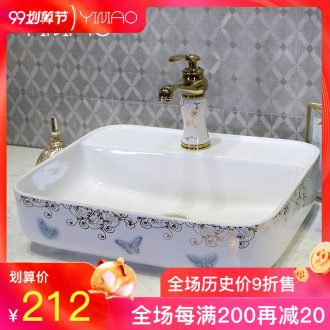 Million birds ceramic art basin stage basin to square the Europe type lavatory toilet lavabo, marble table