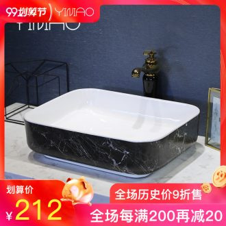 Million birds stage basin sink household ceramic lavatory toilet on the balcony basin basin of small basin