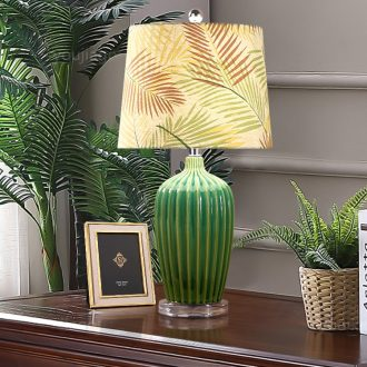 American country ceramic desk lamp lights sitting room of Europe type restoring ancient ways of bedroom the head of a bed the emerald green villa luxury atmosphere