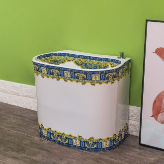 Spring ceramic mop pool household automatic rain washed mop mop pool balcony contracted and contemporary toilet basin