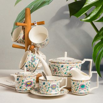 [directly] inky bone China coffee cups and saucers suit Chinese style afternoon tea tea set ceramic teapot red tea cups