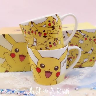 Pokemon Pikachu ceramic cup mug cup milk cup couples than qiaqiu lovely cup