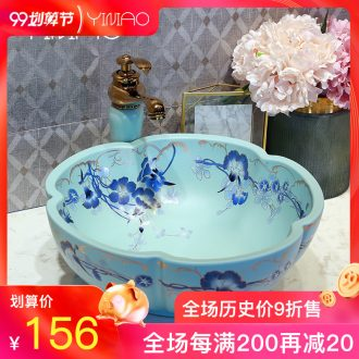 Million birds on the ceramic basin petals lavabo European art basin sinks of the basin that wash a face wash basin