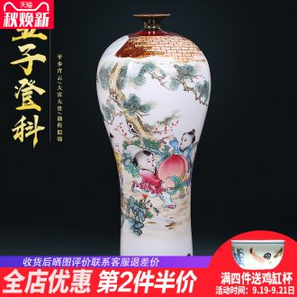 Manual creative kiln jingdezhen ceramics vases, flower arranging new Chinese style household adornment handicraft furnishing articles sitting room