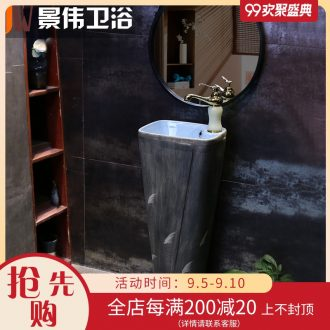 Pillar basin ceramic column type lavatory floor type restoring ancient ways a whole basin courtyard outside the sink wind industry