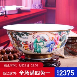 Birthday gift of jingdezhen ceramics hand-painted home sitting room decoration vase decorated bowl penjing collection