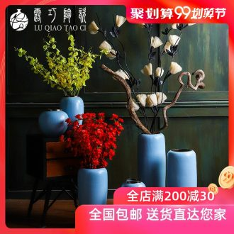 Lou qiao contemporary and contracted vase furnishing articles flower arranging large sitting room be born American retro jingdezhen ceramic flowers