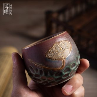 Bo yao as lotus cup product master cup kung fu tea set coarse TaoMing cup ceramic household cup single cup small cups