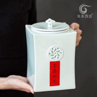 East west pot of ceramic tea caddy gift boxes of creative personality fashion one big POTS sealed cans moistureproof