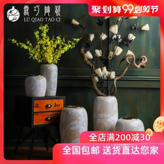 American retro jingdezhen ceramic vase of large sitting room place Chinese flower arranging dried flowers sitting room porch decoration